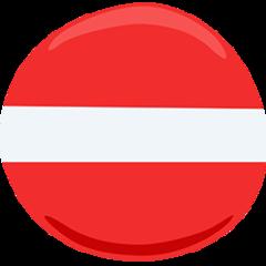 No Entry facebook messenger emoji