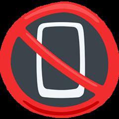No Mobile Phones facebook messenger emoji