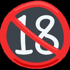 No One Under Eighteen Symbol facebook messenger emoji