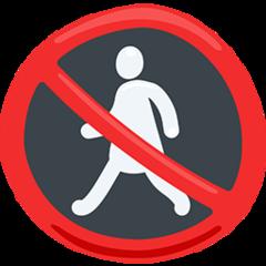 No Pedestrians facebook messenger emoji