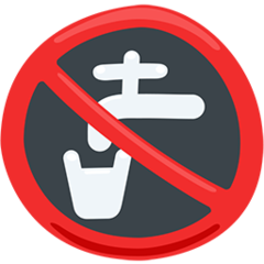 Non-potable Water Symbol facebook messenger emoji