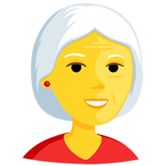 Older Woman facebook messenger emoji