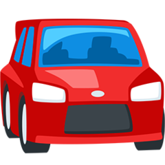 Oncoming Automobile facebook messenger emoji