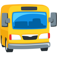 Oncoming Bus facebook messenger emoji