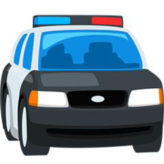 Oncoming Police Car facebook messenger emoji