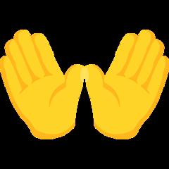 Open Hands Sign facebook messenger emoji
