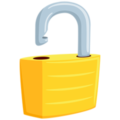 Open Lock facebook messenger emoji