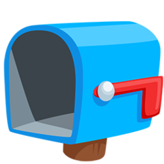 Open Mailbox With Lowered Flag facebook messenger emoji