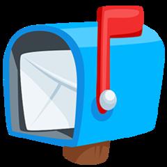 Open Mailbox With Raised Flag facebook messenger emoji