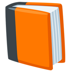Orange Book facebook messenger emoji