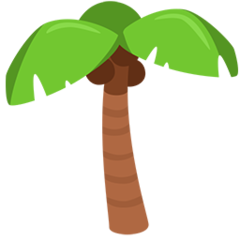 Palm Tree facebook messenger emoji