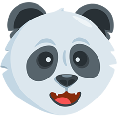 Panda Face facebook messenger emoji