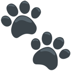 Paw Prints facebook messenger emoji