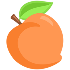 Peach facebook messenger emoji