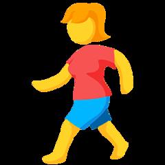 Pedestrian facebook messenger emoji