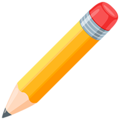 Pencil facebook messenger emoji