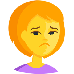 Person Frowning facebook messenger emoji