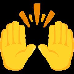 Person Raising Both Hands In Celebration facebook messenger emoji