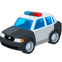 Police Car facebook messenger emoji