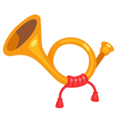Postal Horn facebook messenger emoji
