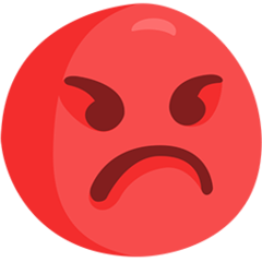 Pouting Face facebook messenger emoji