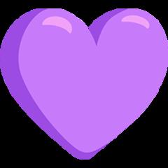 Purple Heart facebook messenger emoji