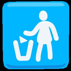 Put Litter In Its Place Symbol facebook messenger emoji