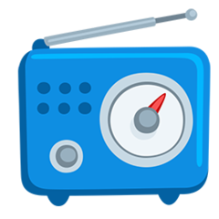 Radio facebook messenger emoji