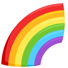 Rainbow facebook messenger emoji