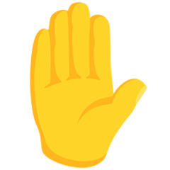 Raised Hand facebook messenger emoji
