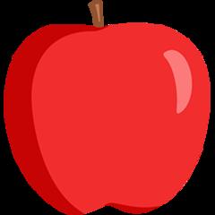 Red Apple facebook messenger emoji