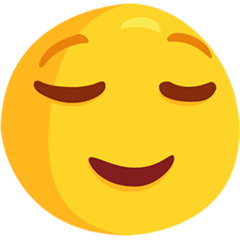 Relieved Face facebook messenger emoji