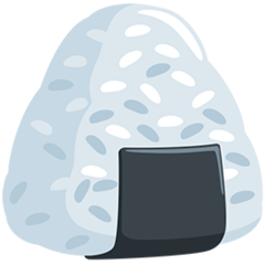 Rice Ball facebook messenger emoji