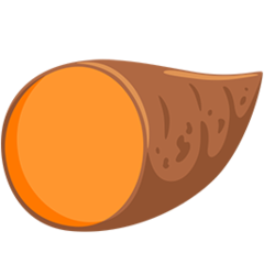 Roasted Sweet Potato facebook messenger emoji