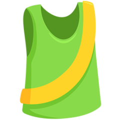 Running Shirt With Sash facebook messenger emoji