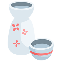 Sake Bottle And Cup facebook messenger emoji