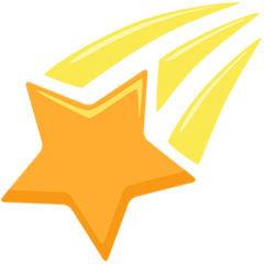 Shooting Star facebook messenger emoji