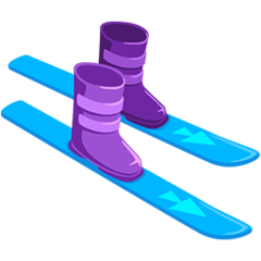 Ski And Ski Boot facebook messenger emoji