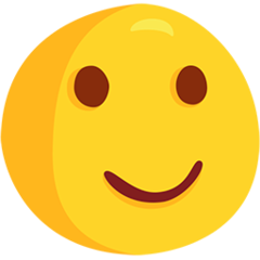 Slightly Smiling Face facebook messenger emoji
