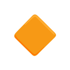 Small Orange Diamond facebook messenger emoji