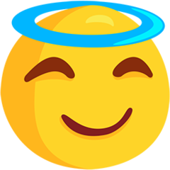 Smiling Face With Halo facebook messenger emoji