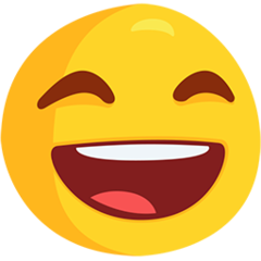 Smiling Face With Open Mouth And Smiling Eyes facebook messenger emoji