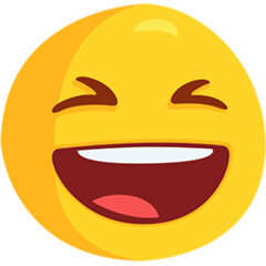 Smiling Face With Open Mouth And Tightly-closed Eyes facebook messenger emoji