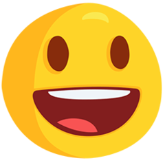 Smiling Face With Open Mouth facebook messenger emoji