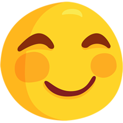 Smiling Face With Smiling Eyes facebook messenger emoji