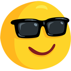Smiling Face With Sunglasses facebook messenger emoji