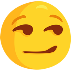 Smirking Face facebook messenger emoji