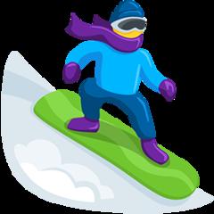 Snowboarder facebook messenger emoji