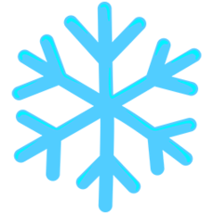 Snowflake facebook messenger emoji