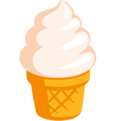 Soft Ice Cream facebook messenger emoji